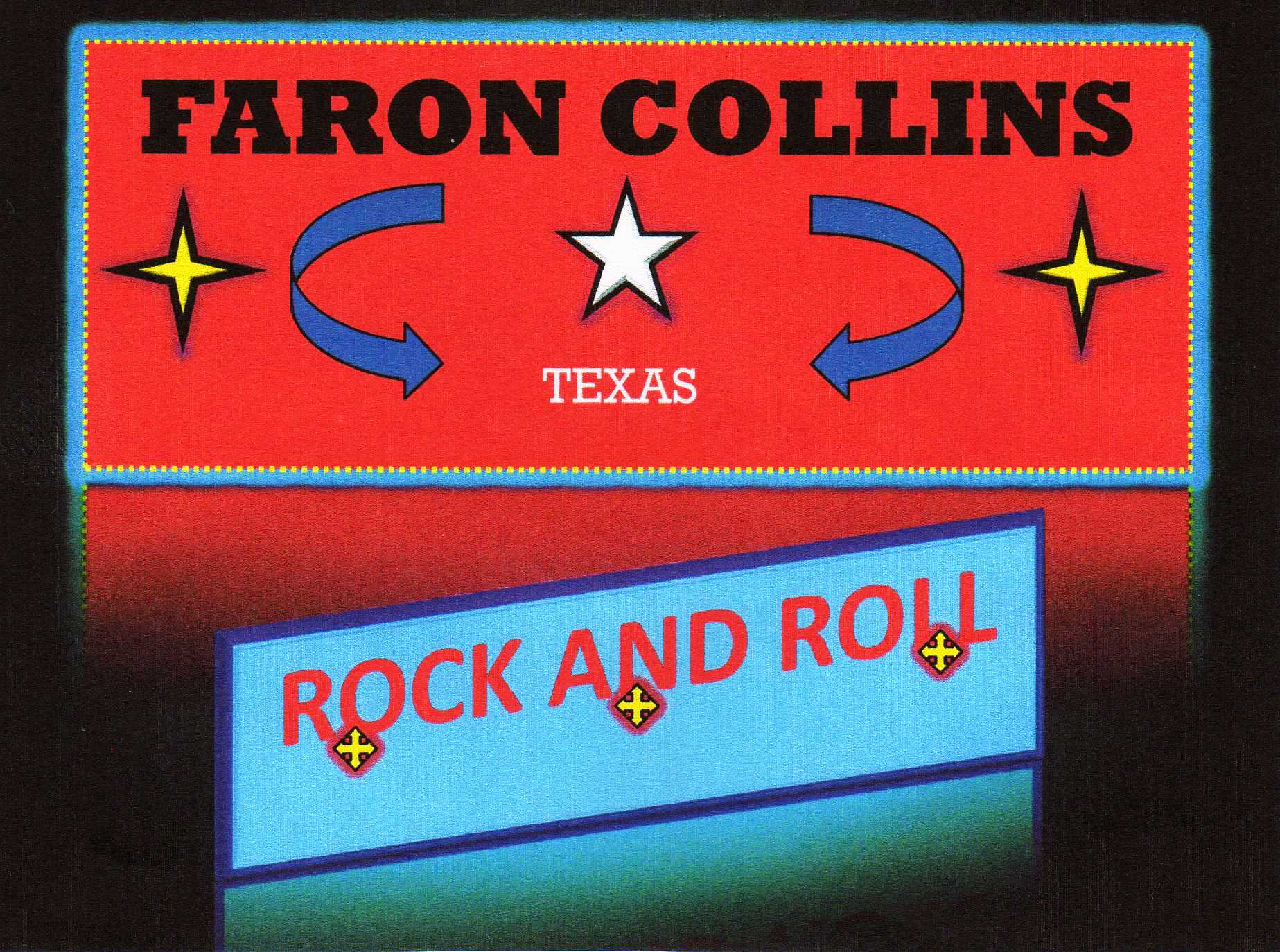 Texas Rock And Roll Banner