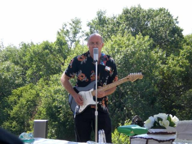 Faron Collins playing live solo at a family reunion Mesquite Texas